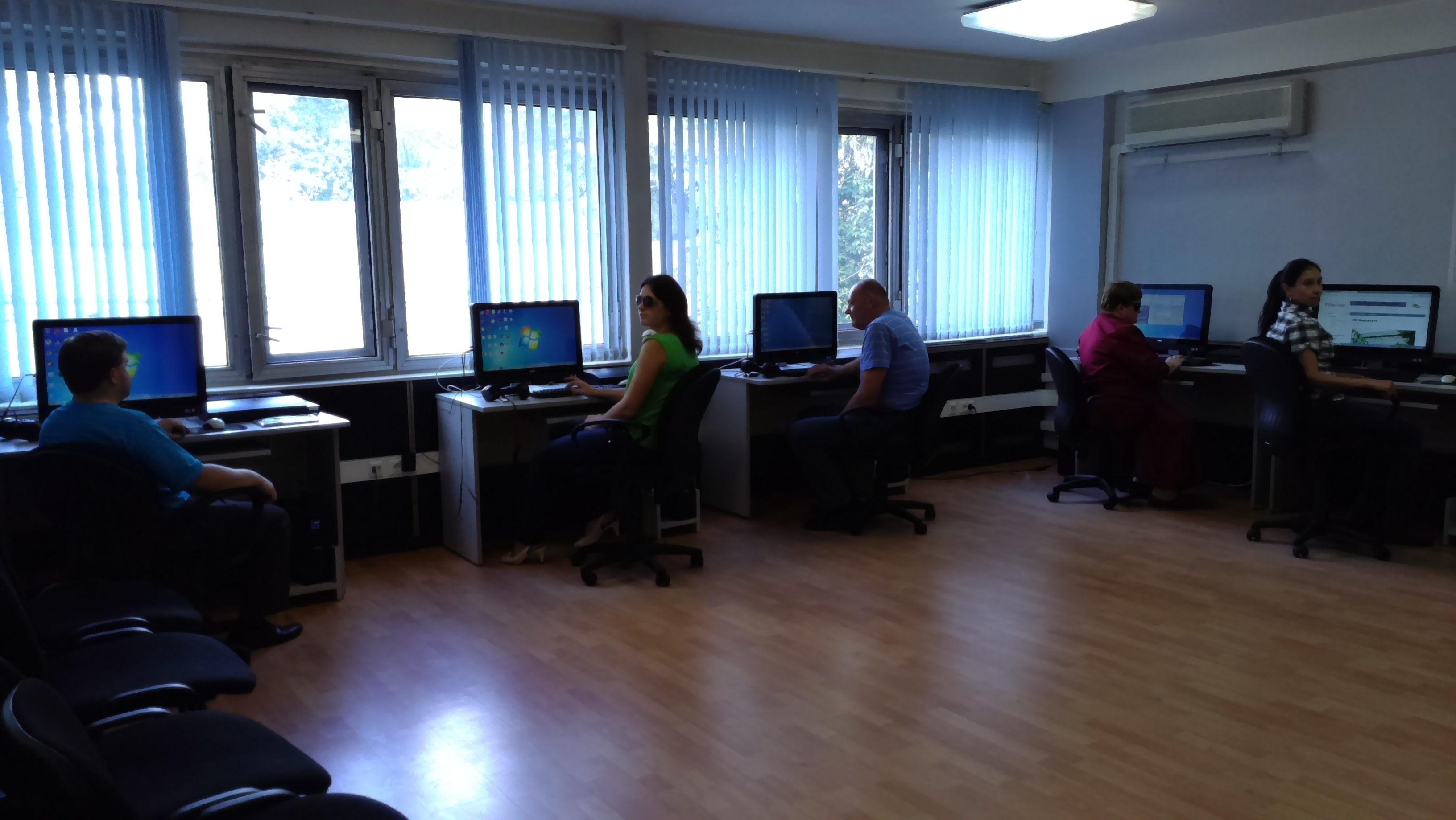 9 сентября начала обучаться группа инвалидов по зрению по заявкам РО ВОС «Информационные технологии (основной курс)»