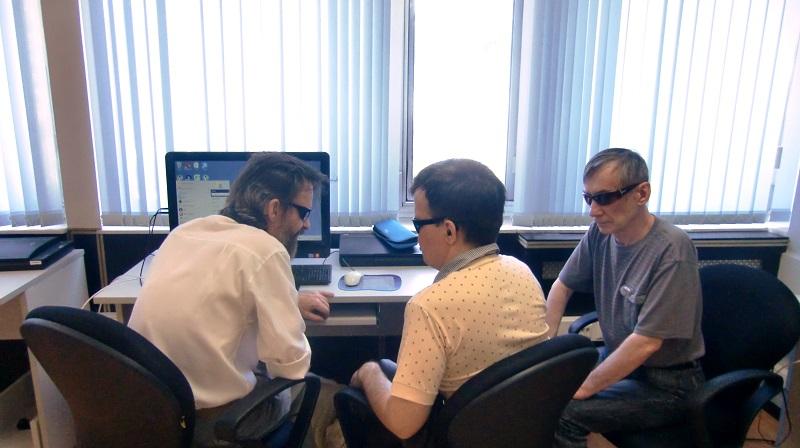 С 26 мая 2014 года в Институте «Реакомп» началось обучение лиц с ограниченными возможностями по слуху и зрению (слепоглухих)